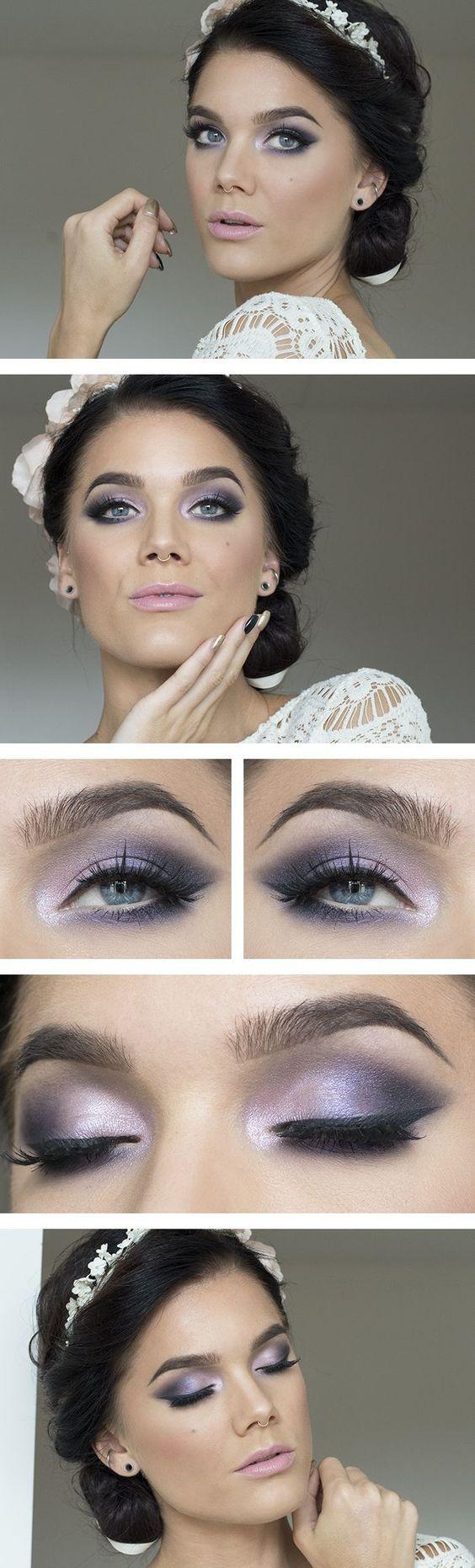 cool purple wedding makeup best photos