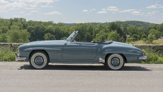 A nicely restored example and a highly desirable model. This #MercedesBenz #190SL is waiting to be added to your collection. Bid online with The Finest Automobile Auctions by visiting Proxibid.