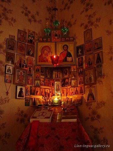 Someone seriously loves their saints. Add photos of family and friends to remember to pray for them: