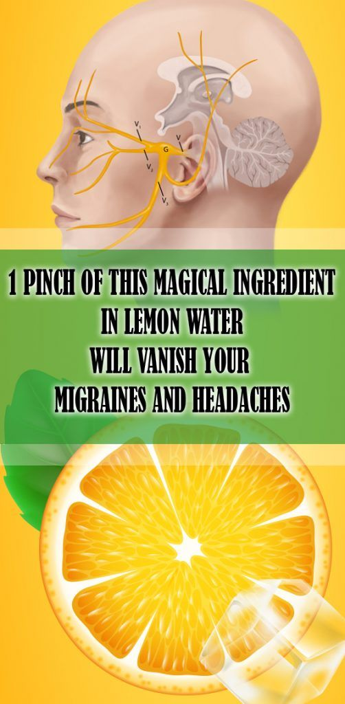 1 Pinch of this Magical Ingredient in Lemon Water Will Vanish Your Migraines and Headaches...