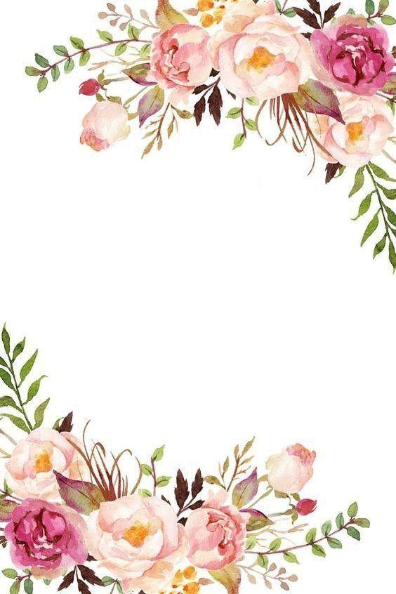 Hintergrund Blumen Bunga Kertas Tisu Pola Bunga Undangan Perkawinan