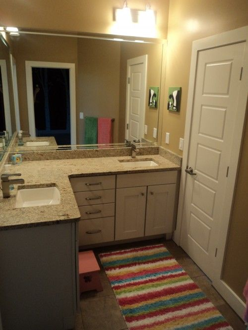 Really like the cabinets counter top and fixtures for bathrooms