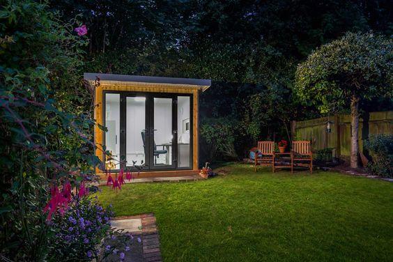 A Garden Studio at Night