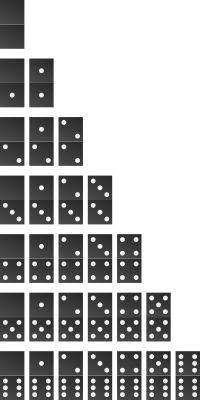DIY garden dominos  - w/ Dot pattern: