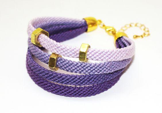 """modern friendship bracelets! """"plum pie II"""""""
