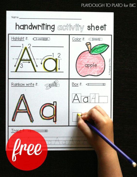 FREE handwriting activity kids. Such a fun way to teach kids letter formation! #BICFightforYourWrite #sponsored