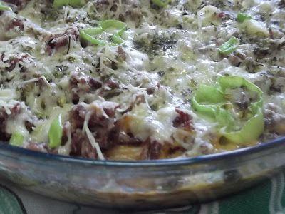 Artes da Sadhia na cozinha : Macarrão de forno com Carne