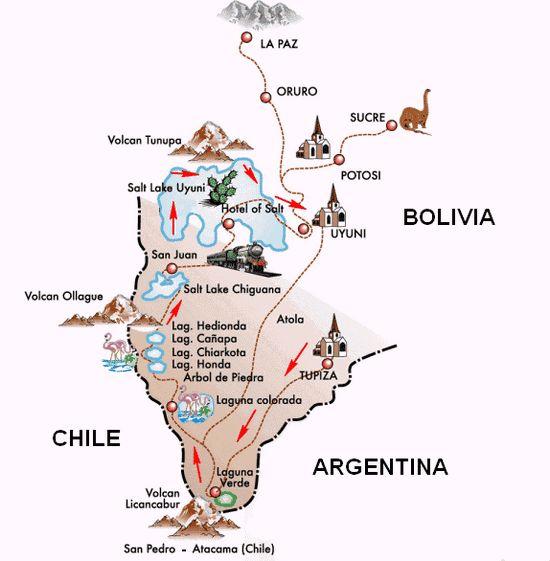 Salar De Uyuni Bolivia And Maps On Pinterest