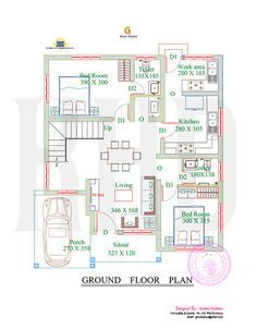 1738 Square Feet 4 Bedroom Double Floor Sloping Roof Home Design And Elevation Floor Plan Design 2bhk House Plan House Plans