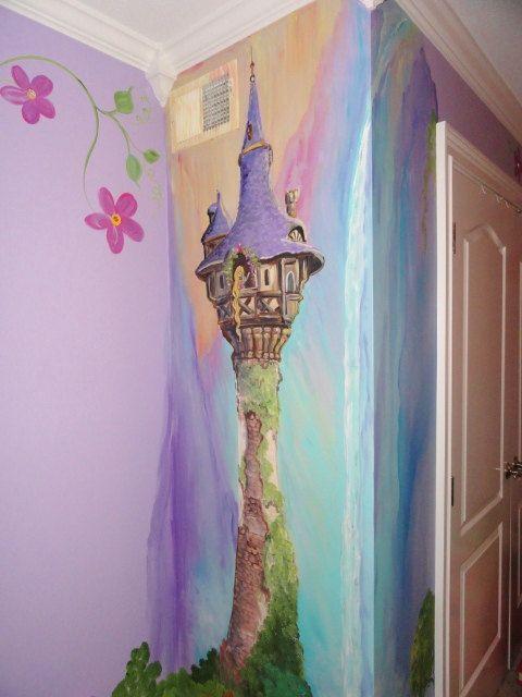 Esimate For Rapunzel Room, Rapunzels Tower, Princess Room, Custom Kids Wall  Art,