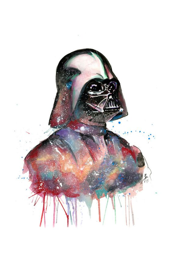 Darth Vader Watercolor by brooxmagnetic on @DeviantArt