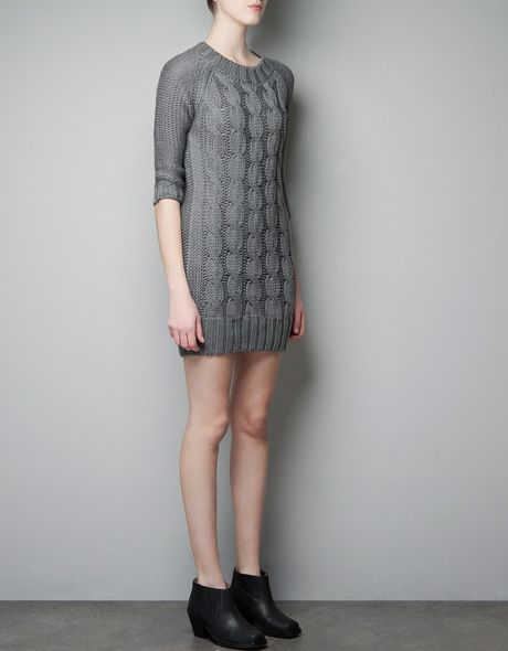 Cable Knit Dress - Lyst