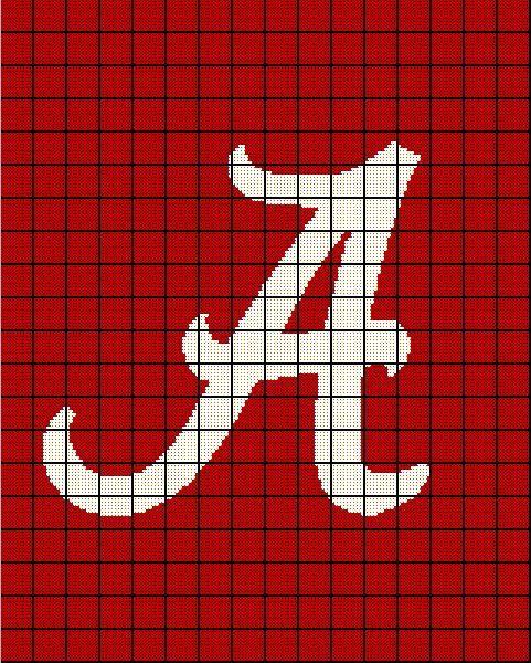 Crochet Patterns Alabama Football : University of alabama, Alabama crimson tide and Alabama crimson on ...