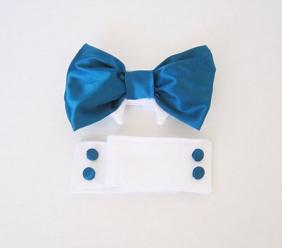 Wedding dog Bow Tie Collar and Cuffs Formal Dog by miascloset, $22.00