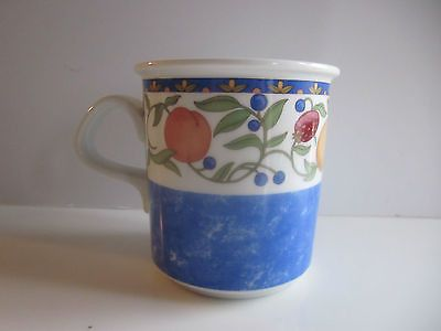 Dansk Cup Mug Fiance Fruit Pattern Blue Replacement Free Shipping