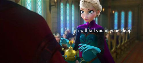 What Elsa was thinking when he told her to take off her gloves