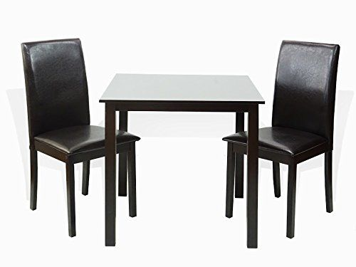 Sunbear Furniture Dining Kitchen Set Of 3 Classic Square Table And