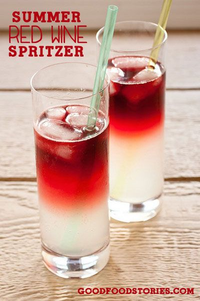 summer red wine spritzer - gorgeous and refreshing!