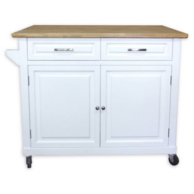 No Tools Kitchen Island In White