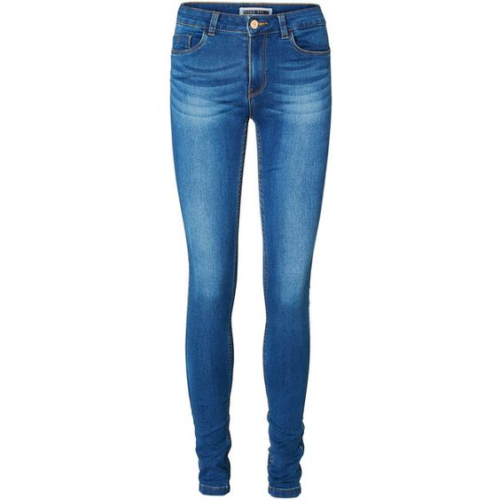 Vero Moda Soft Lucy Slim Fit Jeans ($29) ❤ liked on Polyvore featuring jeans, pants, bottoms, calças, slim fit blue jeans, stretch blue jeans, slim blue jeans, 5 pocket jeans and super stretch jeans