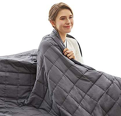 Amazon Com Weighted Idea Cooling Weighted Blanket 15 Lbs Queen