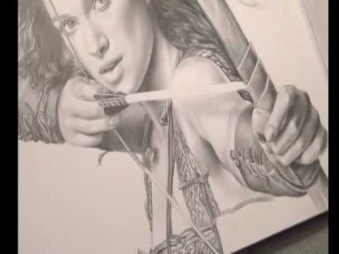 Bleistiftportrait. Realistisch Zeichnen. Keira Knightley speed painting - http://hagsharlotsheroines.com/?p=35671