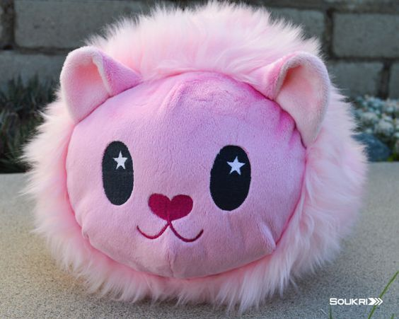 SMALL Lion Roll Plush // Steven Universe Fanart Loaf Plush//Pink Kitty Cat…