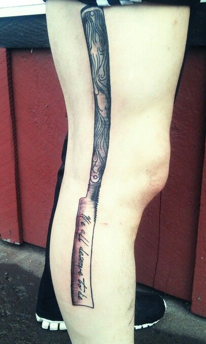 Sweeney todd straight razor tattoo we all deserve to die for Sweeney todd tattoo