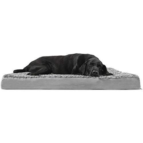 Furhaven Pet Dog Bed Deluxe Orthopedic Mat Ultra Plush Faux Fur Traditional Foam Mattress Pet Bed W Removable Dog Pet Beds Jumbo Dog Bed Orthopedic Pet Bed
