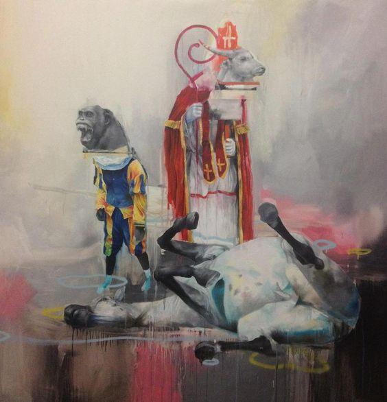 'The Death of Amerigo' Joram Roukes