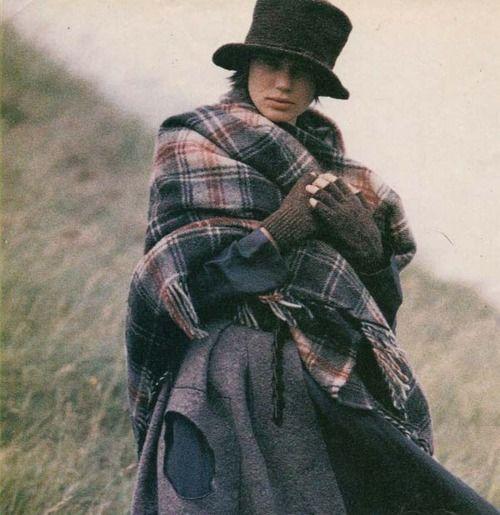 Tartan plaid check shawl | Hat and layers