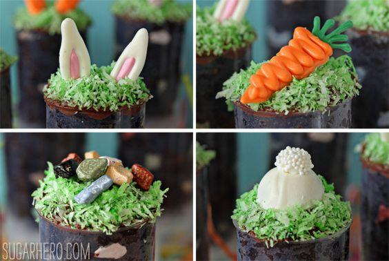 Easter Cake Push Pops | SugarHero.com