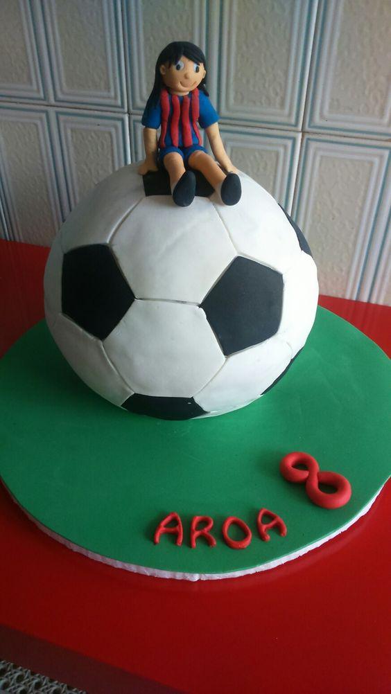 Pastel balón de fútbol - SOCCER BALL CAKE By Dulcemelcocha