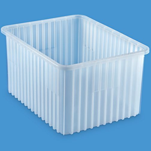 Divider Box 20 X 15 X 12 Clear S 22214 Divider Plastic Bins Storage Spaces