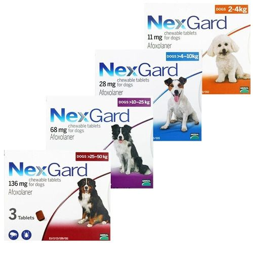 Nexgard Flea Tick Control For Dogs 4 121 Lbs 2 50 Kg 3 6 Or 12 Pack Nexgard Tick Control For Dogs Flea And Tick Dog Flea Treatment