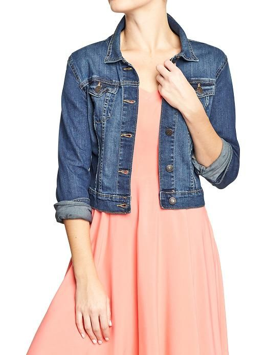 Women's Cropped Denim Jackets | Old Navy sz med tall | 4.13.14 ...