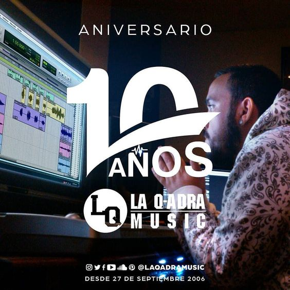 Siguenos en Instagram @laqadramusic   #10AñosLaQadraMusic Septiembre nuestro mes aniversario son 10AÑOS produciendo música urbana de alta fidelidad en nuestro estudio de grabación y estarenos recordando temas discos y anecdotas que hemos tenido desde el 27 de Septiembre del 2006  Prod. MarkBlade La Eminencia (@laeminenciareal)  @LouizD1  @LaloElMaestro #DondeSiSeHaceMusic  #producer #recording  #protools #flstudio #dembow #reggaeton #musicaurbana #estudiodegrabacion #aniversario #venezuela…