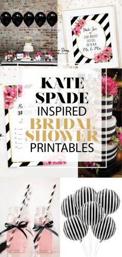 Kate Spade Inspired, Bridal Shower Games Printables, Kate Spade Bridal Shower