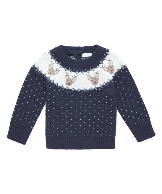 JoJo Maman Bébé Reindeer Fair Isle Wool-Blend Sweater - Infant ...