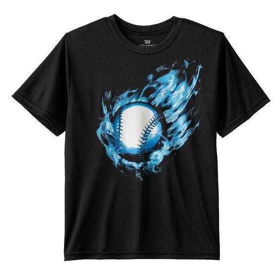 Boys 8-20 Tek Gear® Fire Ball Tee, Black