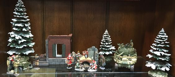Xmas display featuring King & Country figures