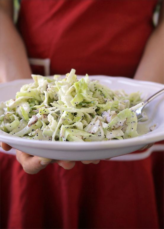 White Winter Slaw (Need to make this ASAP - lots of cabbage in CSA ...