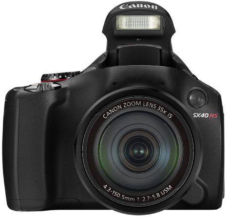 Canon PowerShot SX40 HS Appareil photo Bridge 12,1 Mpix Noir: Amazon.fr: Photo & Caméscopes