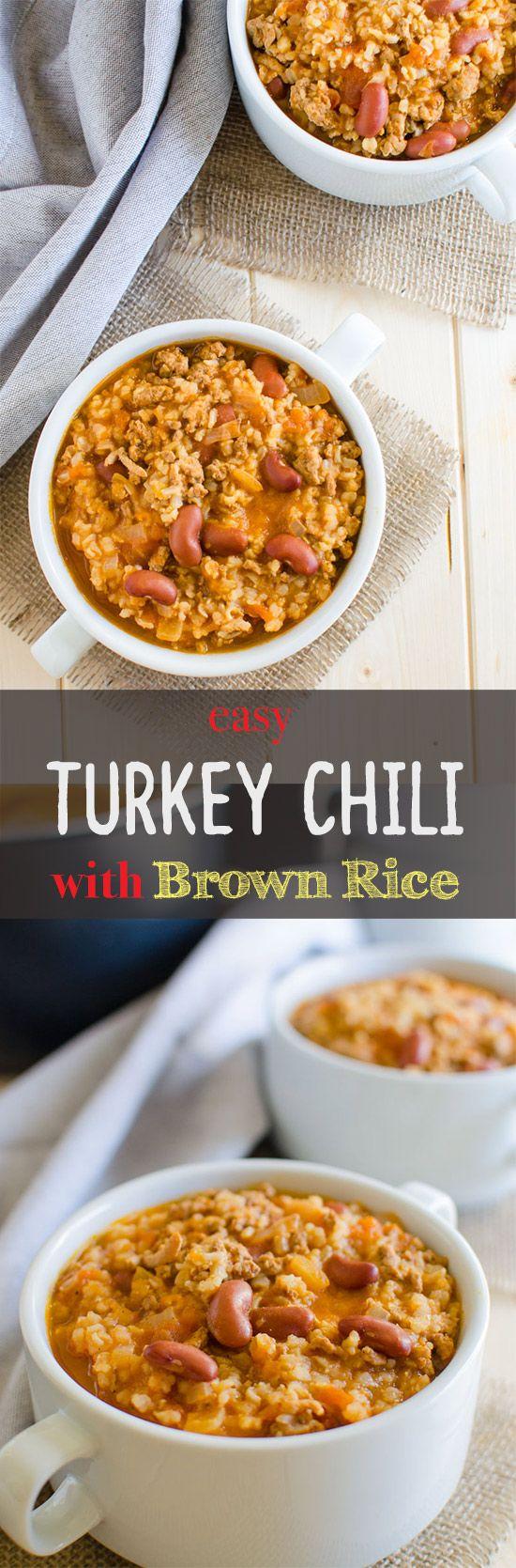 Easy turkey chili, Turkey chili and Chili on Pinterest