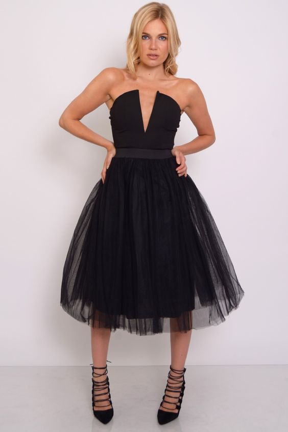 Black Plunge Tutu Dress  Rare London  Katie&39s prom  Pinterest ...