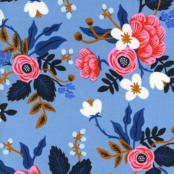 Birch Floral in Periwinkle (RAYON)
