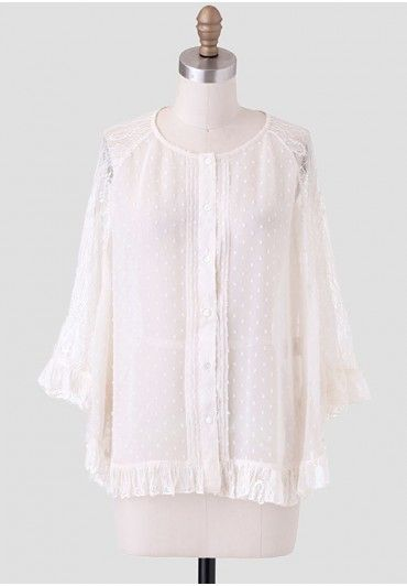 Forget Me Not Lace Capelet