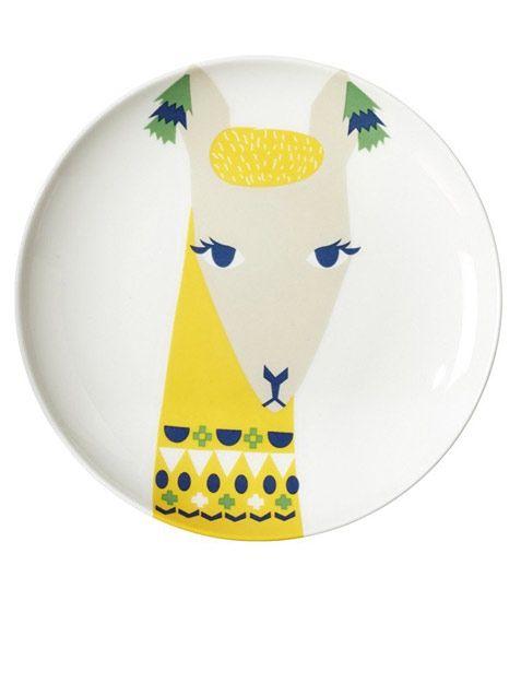 Llama Plate (Ø 21cm) by Donna Wilson