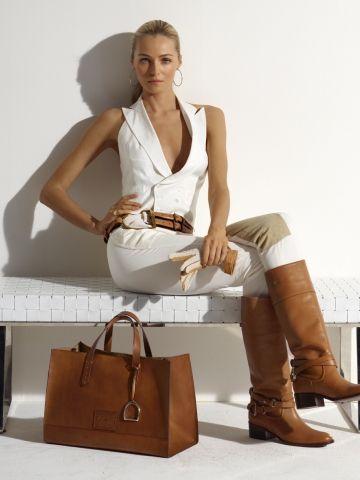 RL Equestrian Large Tote - Ralph Lauren Handbags Handbags - RalphLauren.com