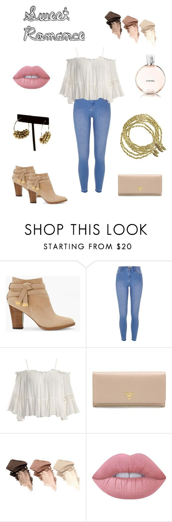 """Sweet Romance"" by sameskystyle on Polyvore featuring White House Black Market, River Island, Sans Souci, Prada, Urban Decay, Lime Crime, Chanel and samesky"